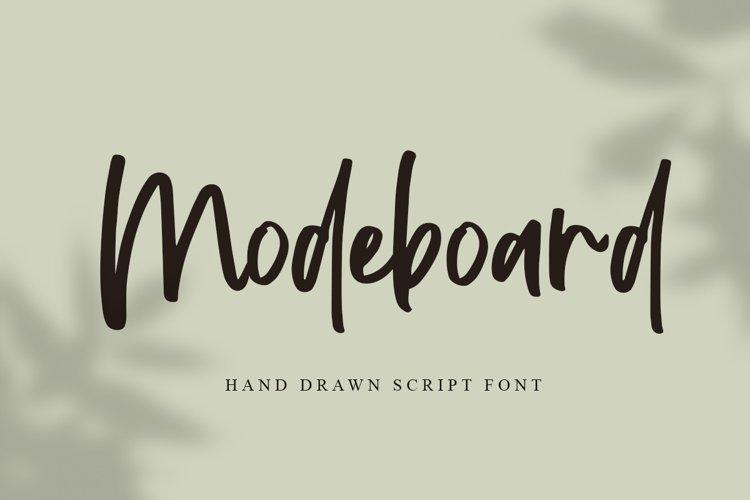 Modeboard | Handwritten Script Font