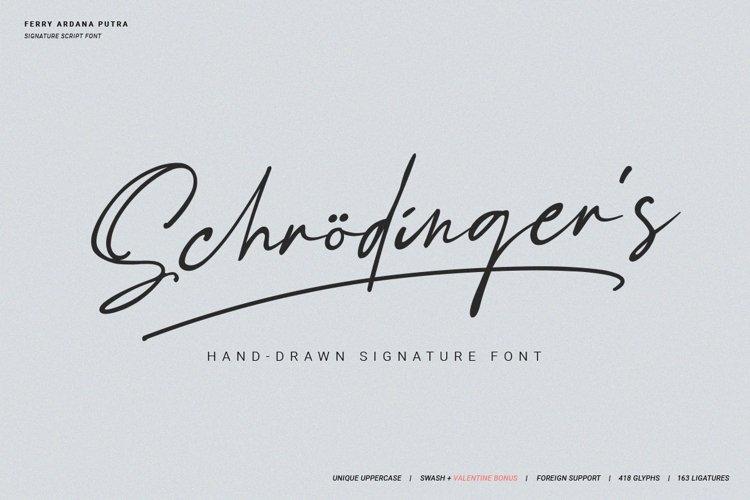 Schrödingers | Signature Font