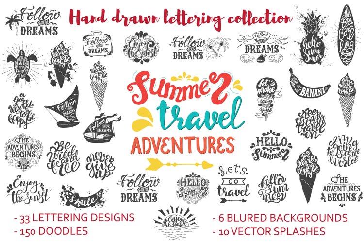Handwritten travel & summer lettering example image 1