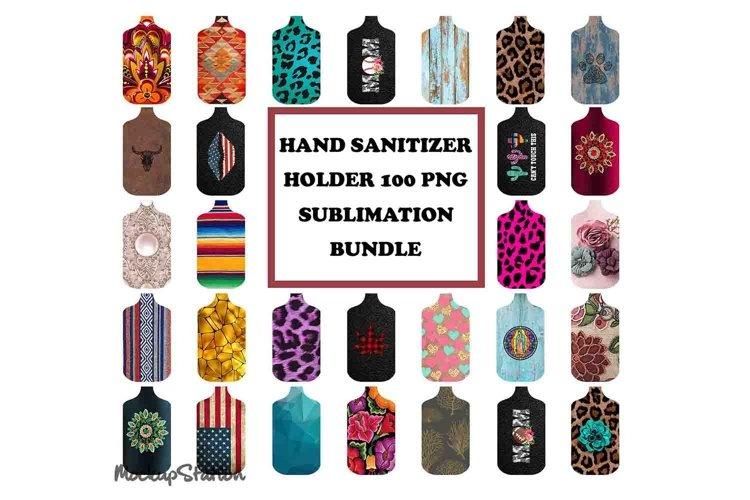 Hand Sanitizer Holder Sublimation Designs Bundle PNG example image 1
