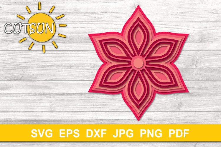 Download 3D Layered Mandala SVG cut file 6 layers (513116) | Cut ...
