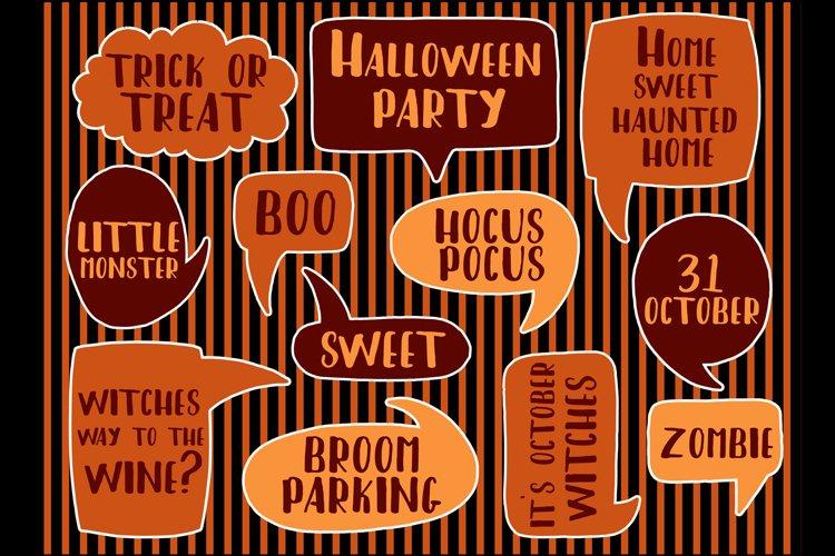 Set speech decoration Halloween party. example image 1