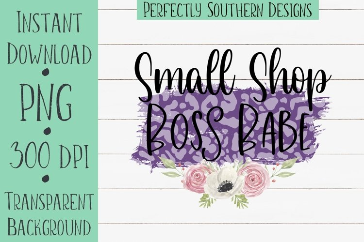 Small Shop Boss Babe Purple - Sublimation design example image 1