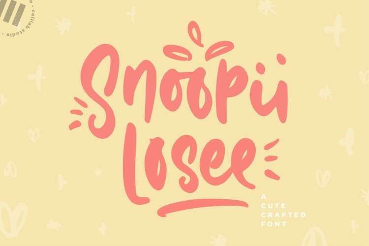 Snoopii Losee - A Cute Crafted Font example image 1