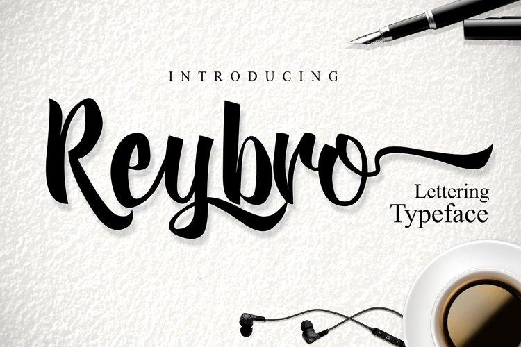 Web Font Reybro Script example image 1