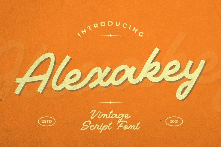 Alexakey Font example image 1