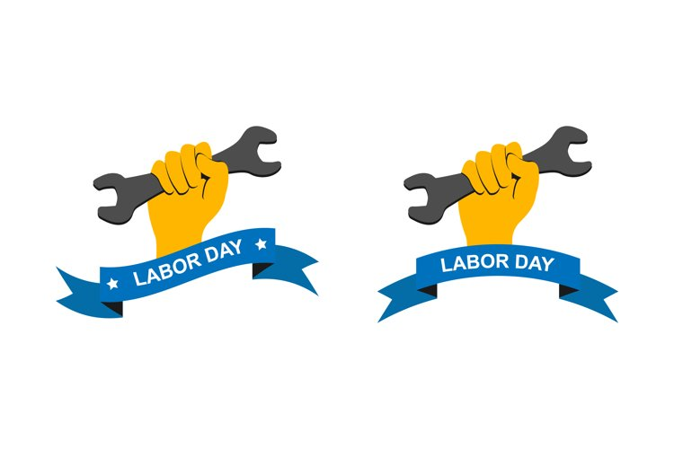 Labor day logo. Vector Labor day symbol isolated example image 1