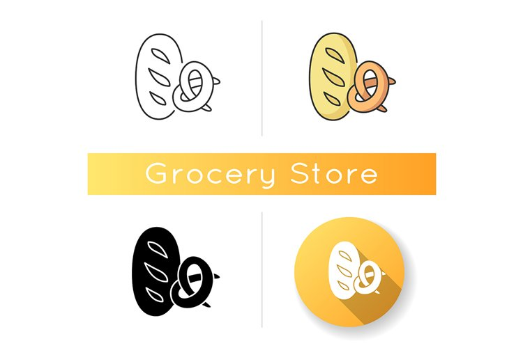 Bread and bakery icon example image 1