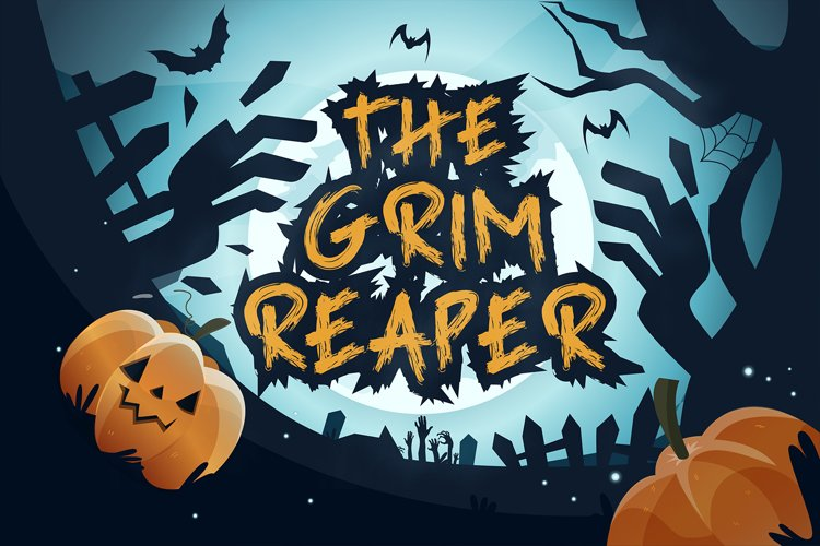 Grim Reaper - Creepy Halloween Font