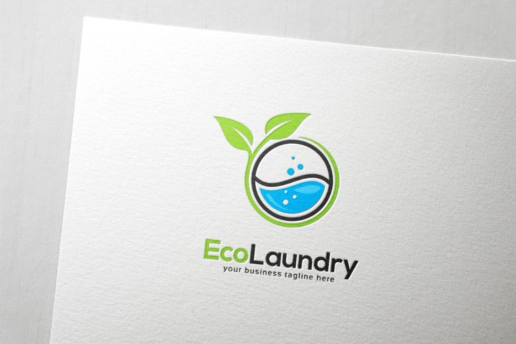 eco laundry logo 796551 logos design bundles eco laundry logo