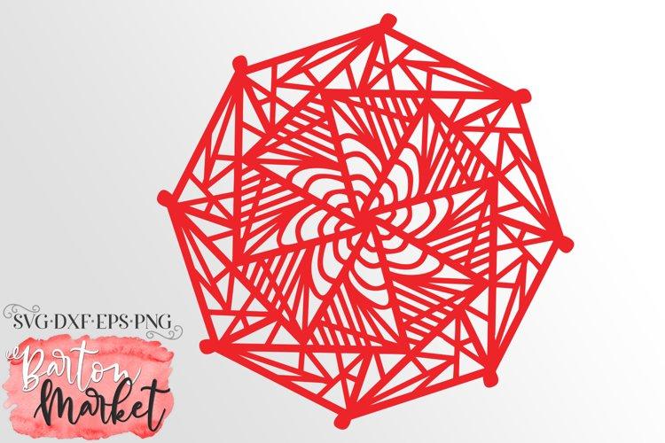 Mosaic Hexagon Mandala Illustration example image 1