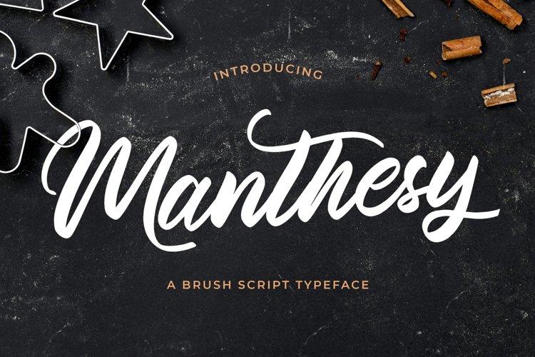 Manthesy - Brush Script Font example image 1