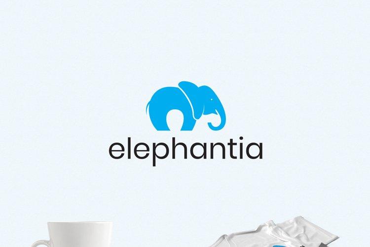 Happy Elephant Logo Template example image 1