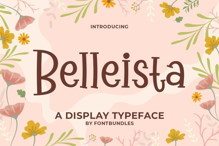 Web Font Belleista example image 1
