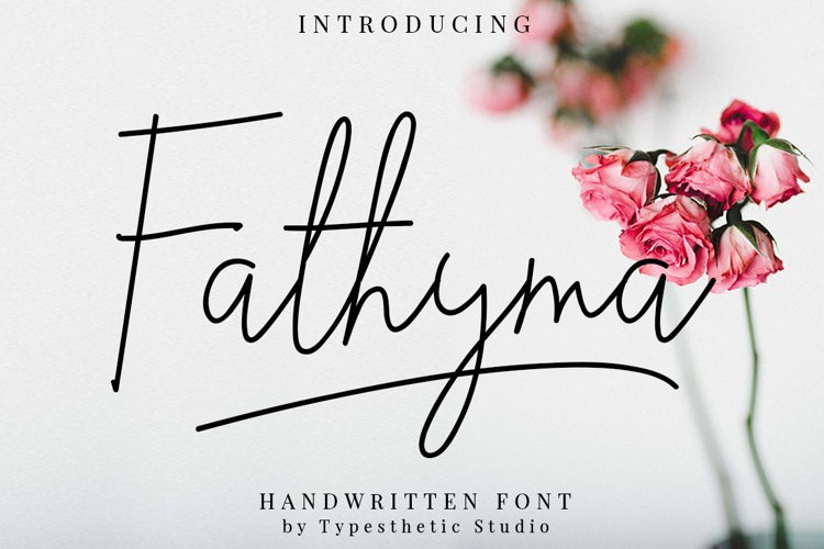 Fathyma Handwritten Script example image 1