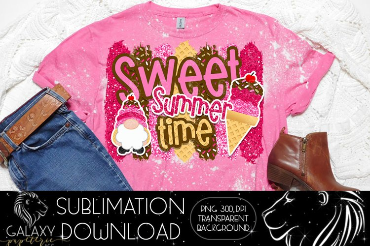Sweet Summer Time Ice cream Sublimation Design PNG File