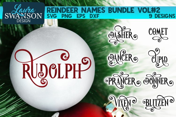 Reindeer Names Bundle Vol#2   Christmas SVG Bundle example image 1