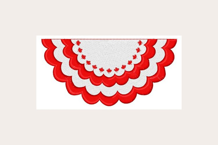 Canadian Bunting -Machine Embroidery Design example image 1