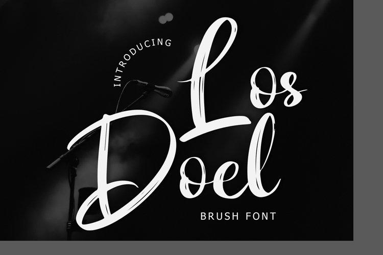 Los Doel Brush Script Font example image 1
