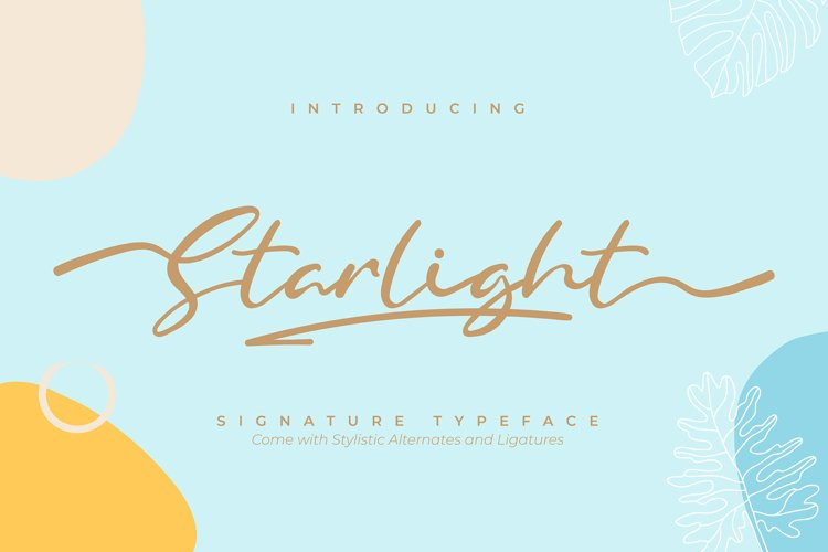 Starlight | Signature Typeface Font example image 1
