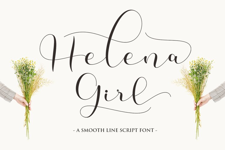 Helena Girl - a smooth line script example image 1