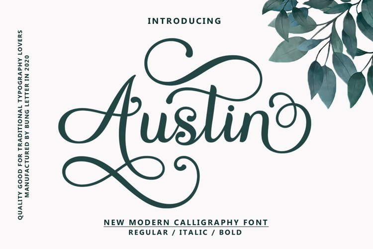 Austin - Modern Calligraphy example image 1