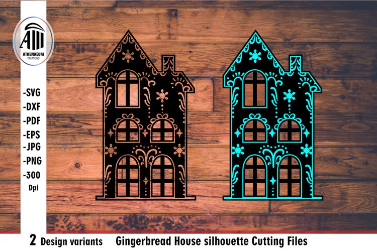House svg. Christmas house silhouette Laser cutting.