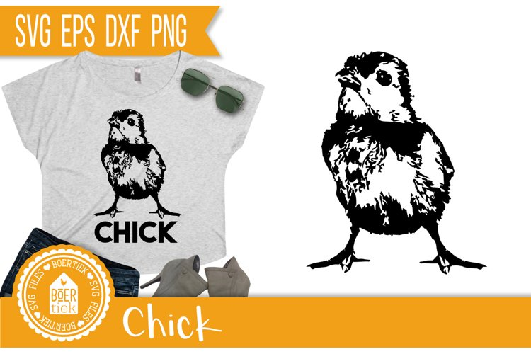 Chick, SVG cutting file, nice for making shirts, bags, etc.
