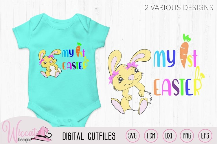 My first Easter, Baby Easter bunny girl, Happy easter,