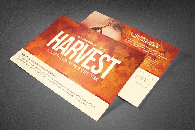 Harvest Celebration Church Postcard Template
