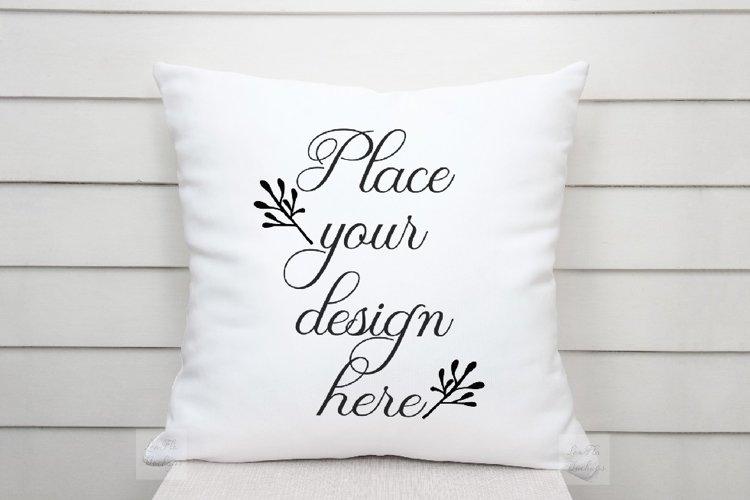 White pillow mockup psd cushion sublimation nautical mock up