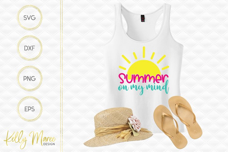 Summer On My Mind SVG File example image 1