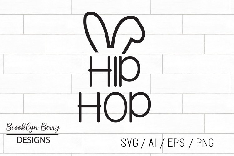 Hip Hop Bunny Easter SVG example image 1