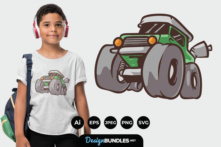 Monster Truck Illustration for T-Shirt Design