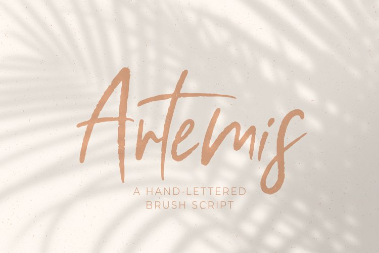 Artemis // A Hand-Lettered Brush Script