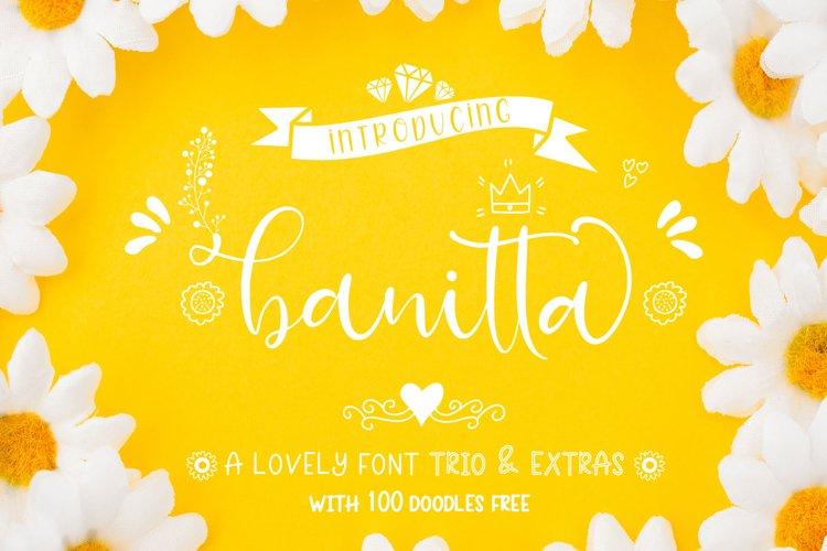 Banitta Font Trio & Extras example image 1