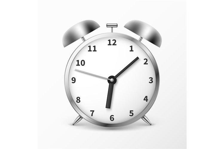 Alarm clock with bells, ringing timer vector illustration example image 1