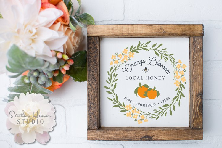 ORANGE BLOSSOM LOCAL HONEY - SVG, PNG, DXF and EPS example image 1