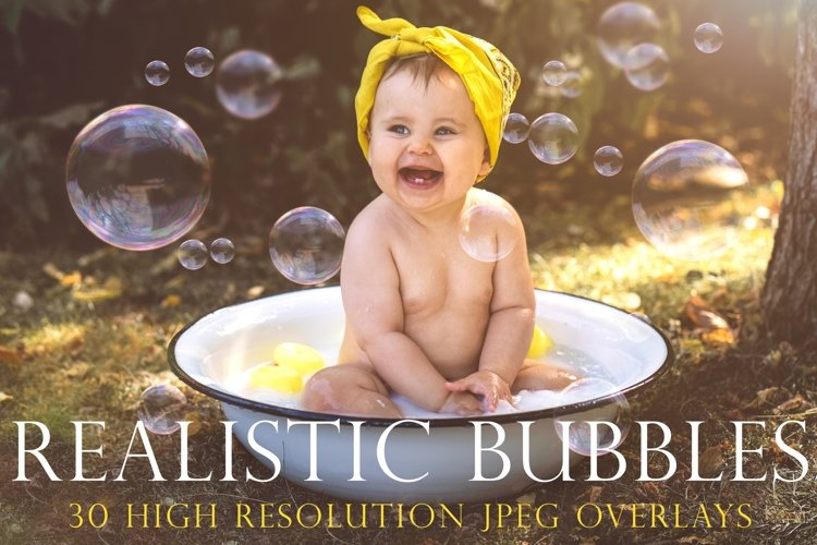 Realistic soap bubble overlays example image 1