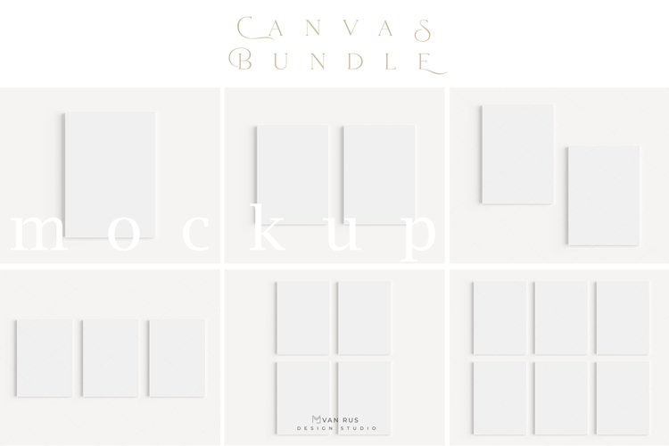 A4 Canvas Mockup BUNDLE Simple Modern Painting Mockup/M157 example image 1