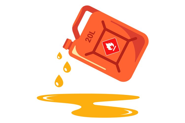 pour gasoline from the can example image 1