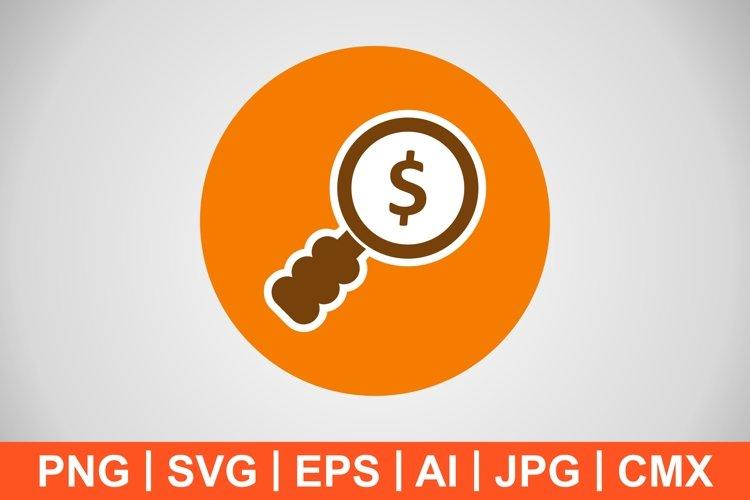 Vector Money Search Icon example image 1