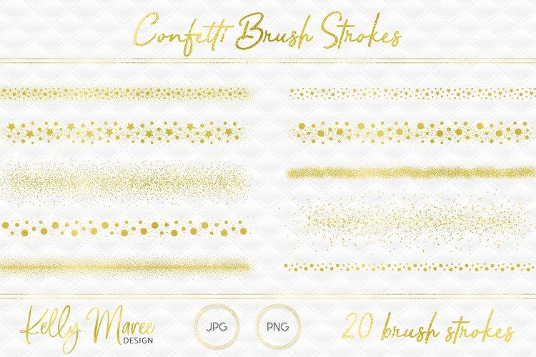 Gold Confetti Brush Strokes