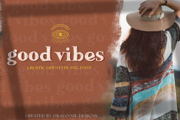 Updated!!! Good Vibes SVG Font & Graphics example image 1