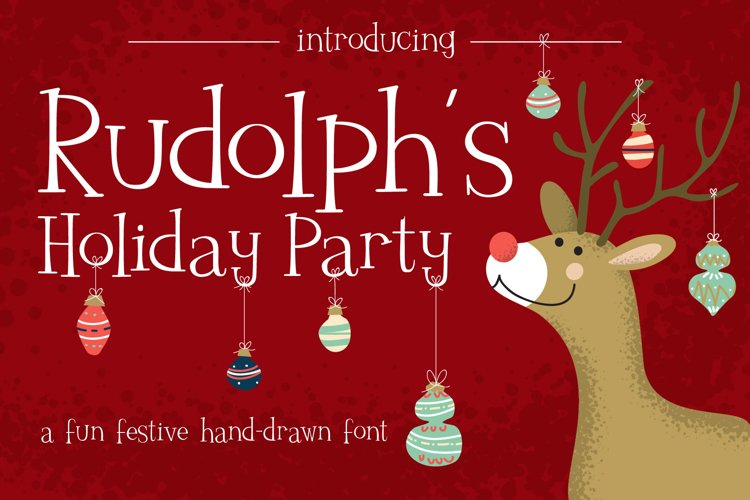 Rudolph's Holiday Party Font example image 1