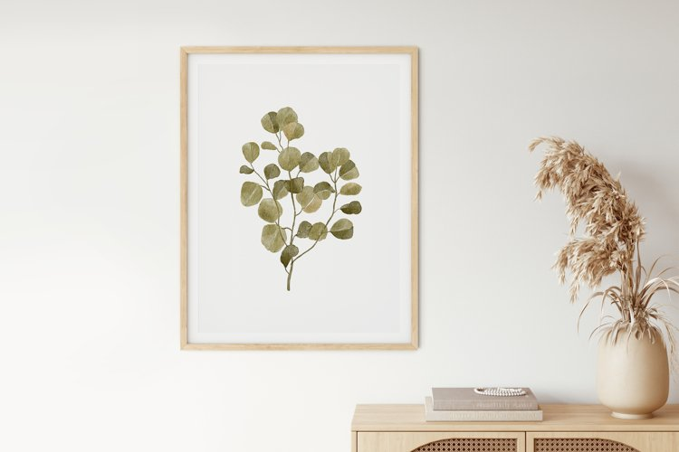 Watercolor Leaves Wall Art, Leaf Wall Print, Home Wall Decor example image 1