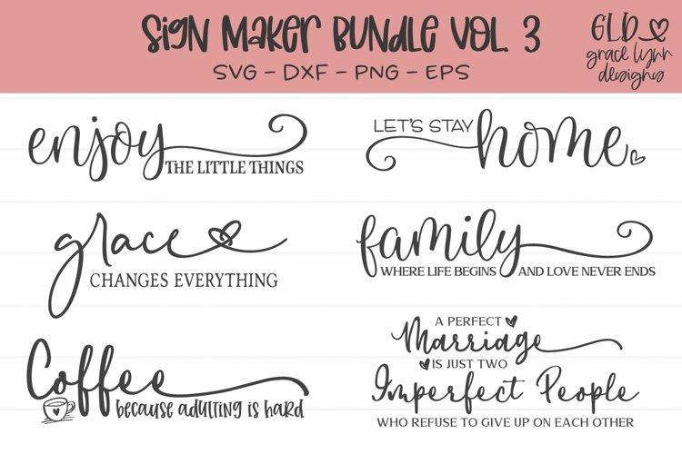 Sign Maker Bundle Vol. 3 - 6 Sign SVG Cut Files example image 1