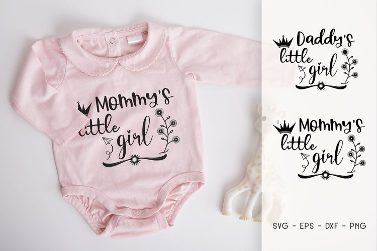 Mommy Little Girl - Dady's Little Girl SVG example image 1