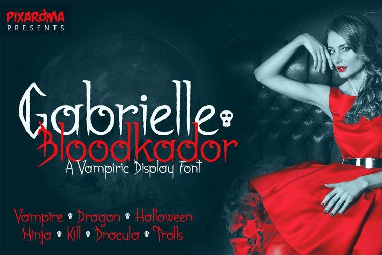 Gabrielle Bloodkador Halloween Font