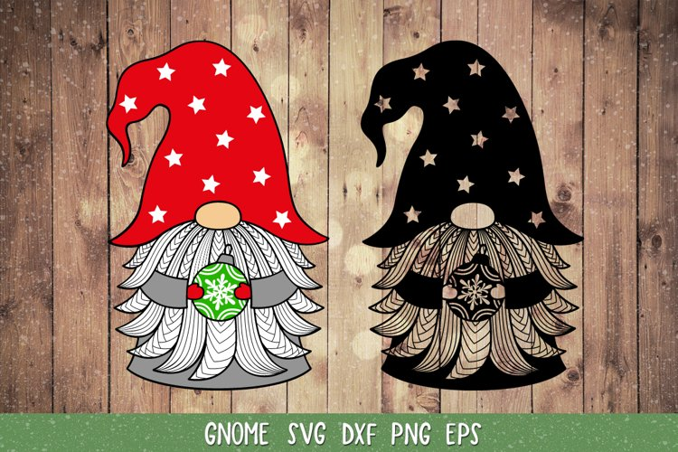 Gnome Christmas SVG,DXF,Christmas Gnome Clipart,Cut file SVG example image 1
